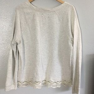 Lou & Grey Tops - Lou and Grey Sweatshirt with Lace